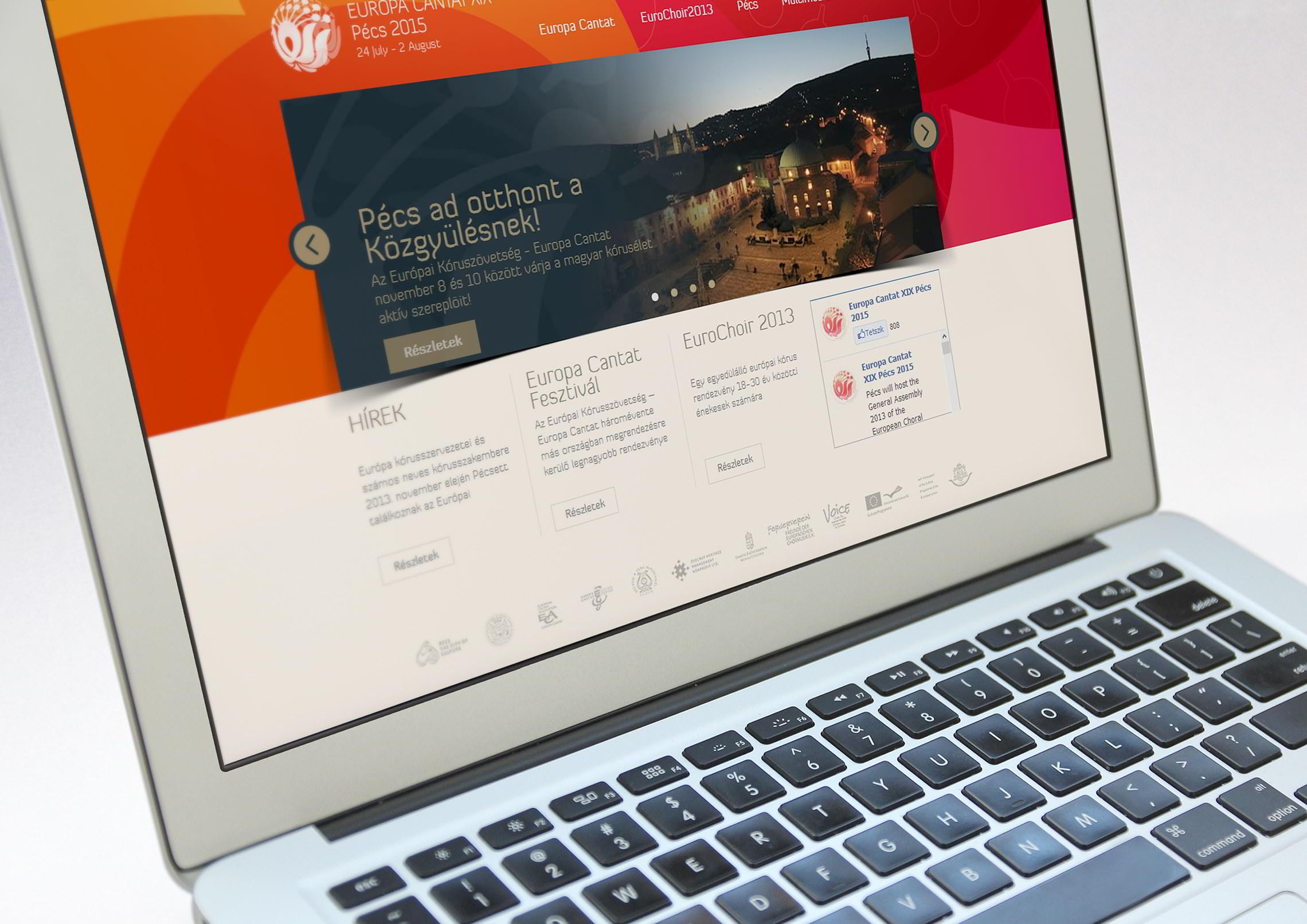 Webdesign - Europa Cantat 2015