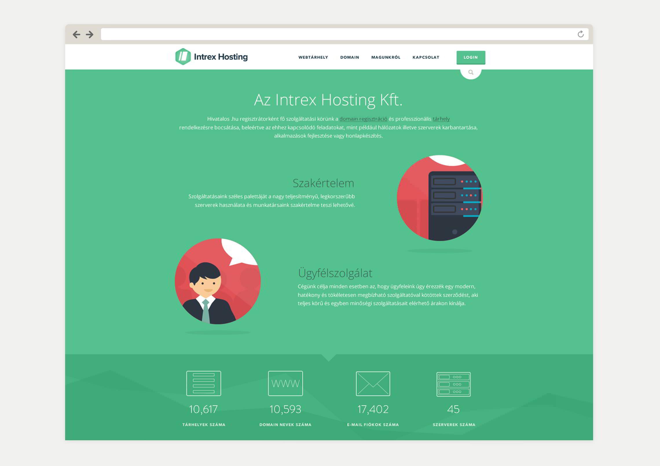Illusztrációk, ikonterezés - Intrex Hosting