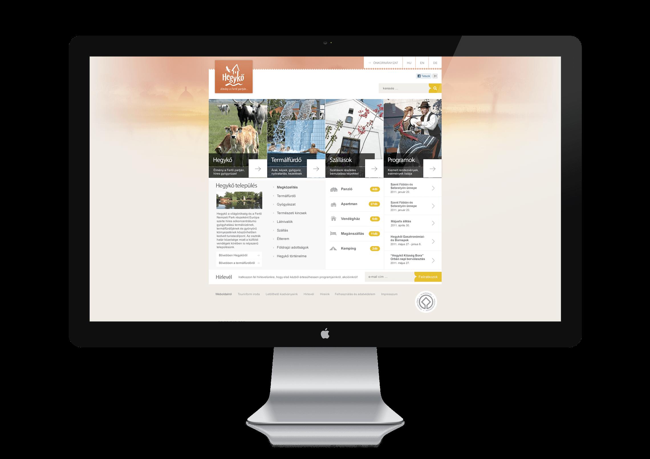 Webdesign - Hegykő Község