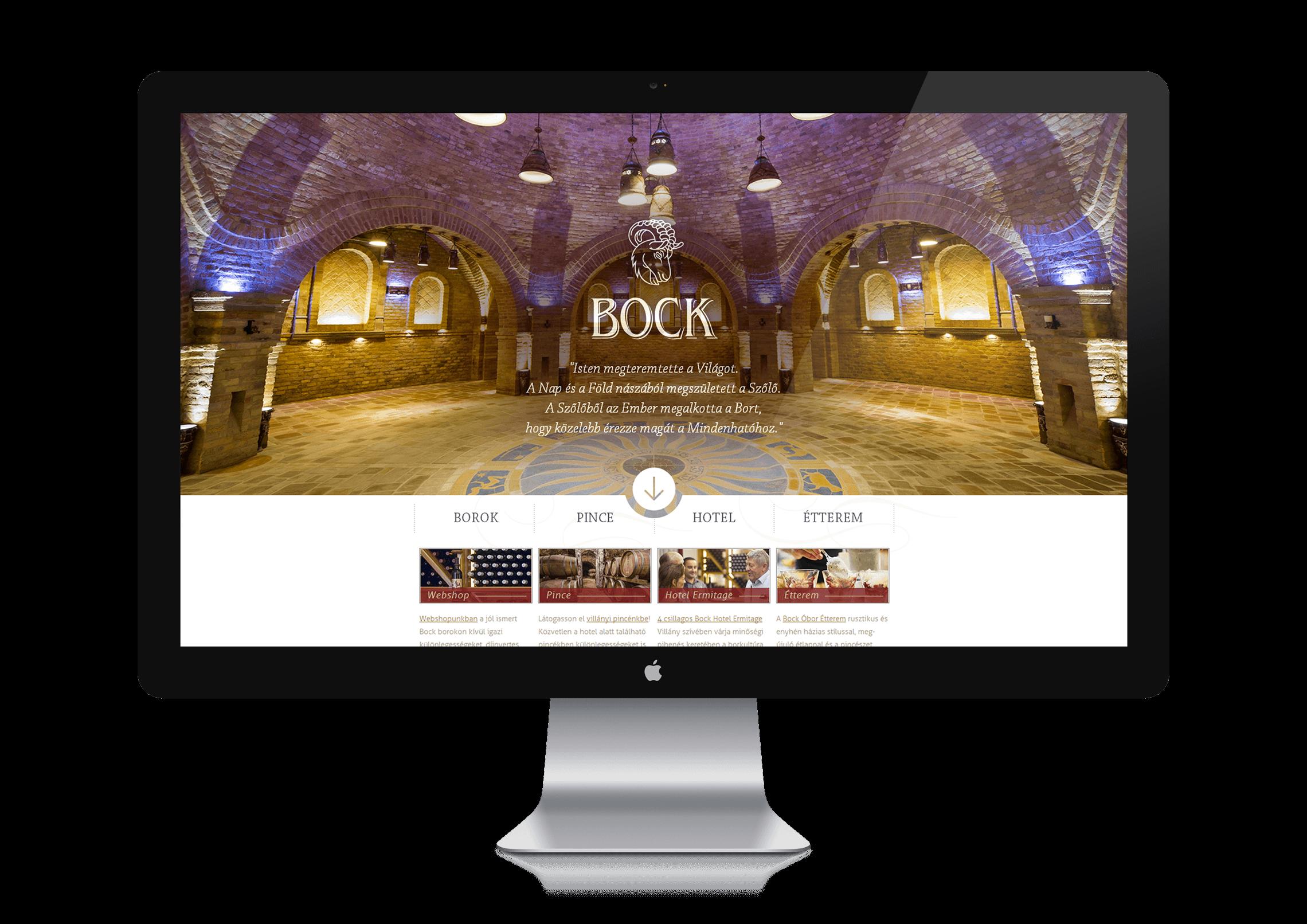 Weboldal készítés - Bock Pince Villány