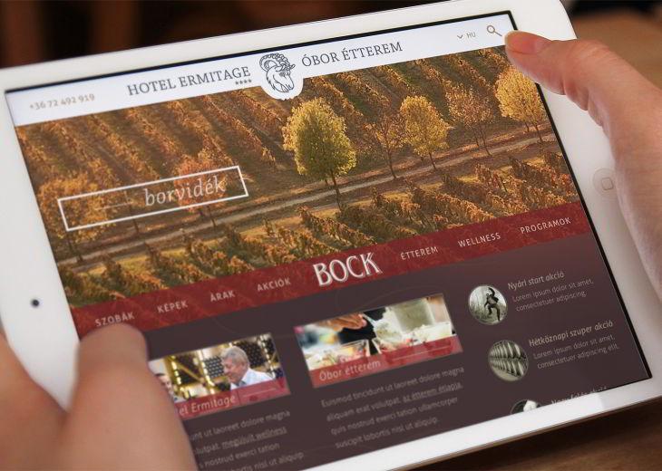 Weboldal készítés - Bock Hotel és Pince